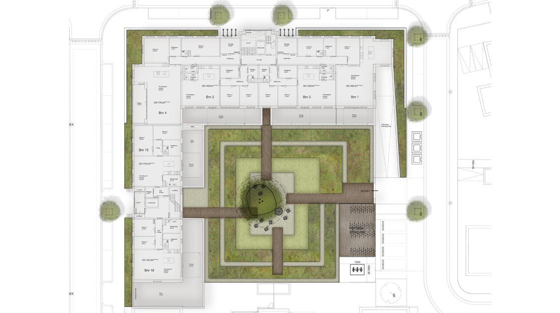 Ontwerp binnentuin Abdijpoort Berkel Enschot